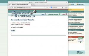Results - Research Randomizer