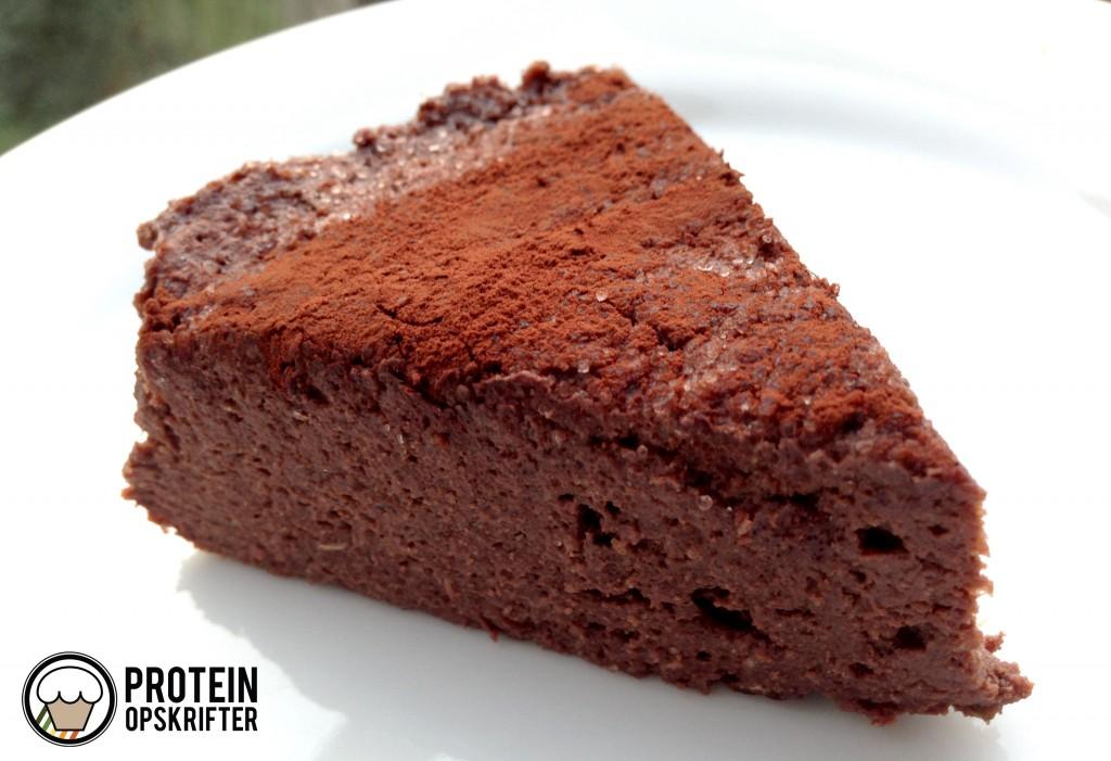 low carb opskrift på no bake chokoladekage
