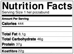 sund pizza næring