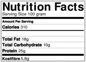 Opskrift på proteinbar med æble - energifordeling
