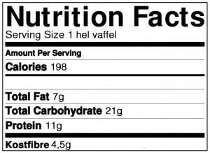proteinvafler næringsindhold