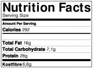 sundt marcipanbrød næringsindhold